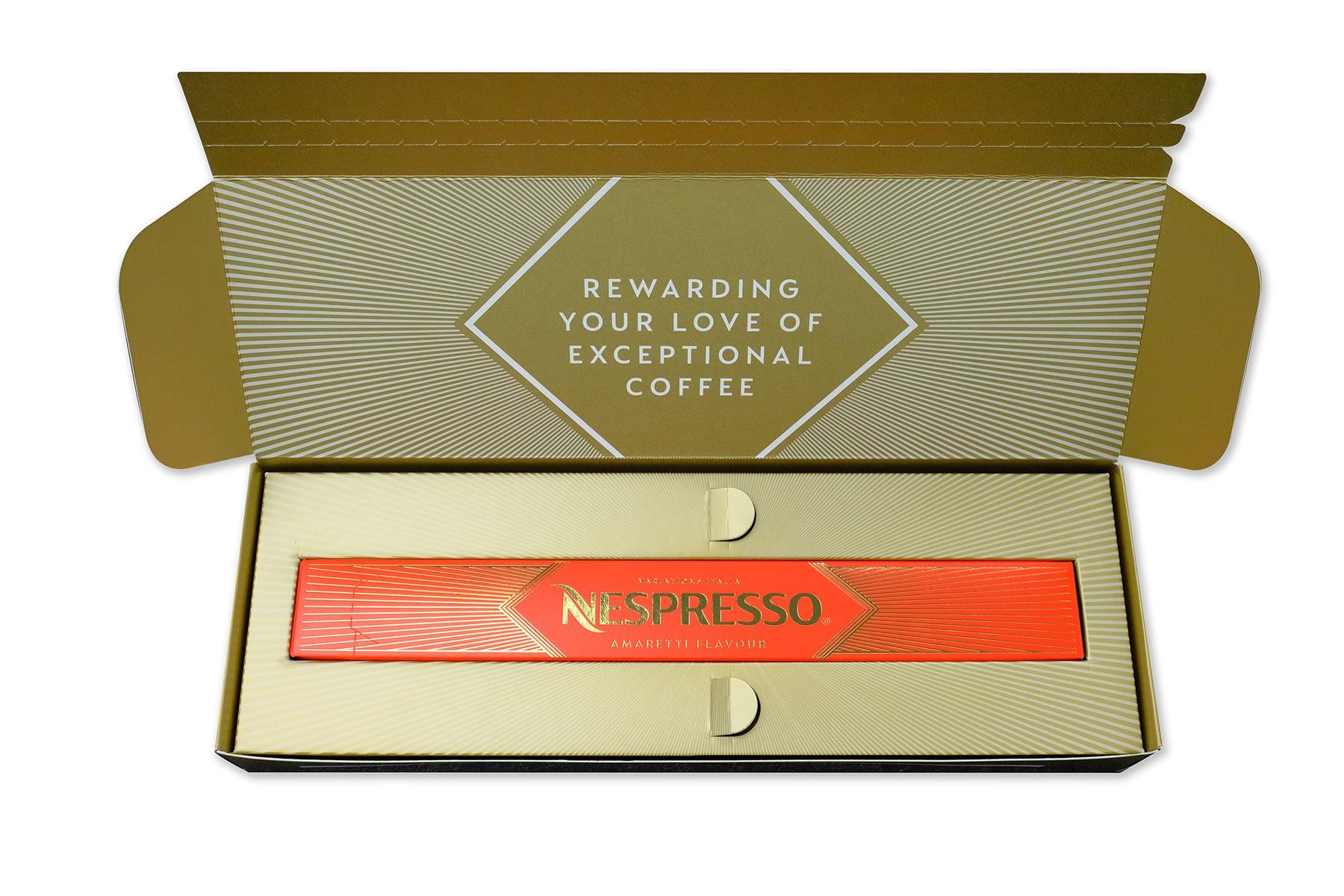 Nespresso opened box